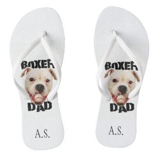 Flips-flopes cones monograma del papá del perro chanclas