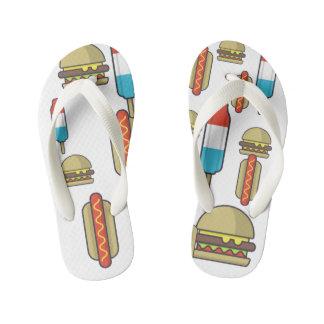 Flips-flopes de encargo de los alimentos de chanclas para niños