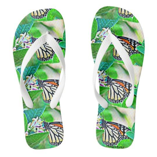 Flips-flopes de la mariposa de monarca chanclas