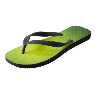 ¡Flips-flopes de la verde lima de Rasta! Chanclas