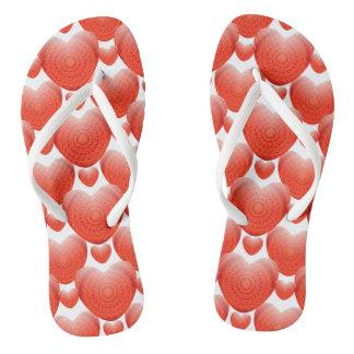 Flips-flopes del día de San Valentín - corazones Chanclas