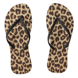 Flips-flopes del estampado leopardo chanclas