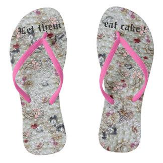 Flips-flopes del lujo de Marie Antonieta Chanclas