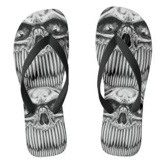 Flips-flopes felices del cráneo chanclas