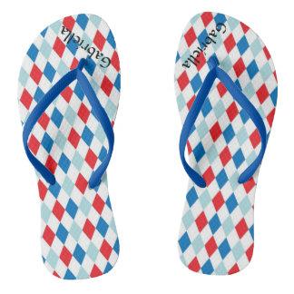 Flips-flopes personalizados geométricos blancos y chanclas
