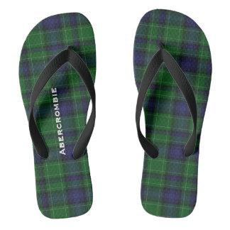 Flips-flopes personalizados tela escocesa de chanclas