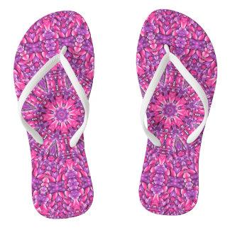 Flips-flopes rosados de la púrpura de n