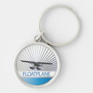 Floatplane Llavero Redondo Plateado