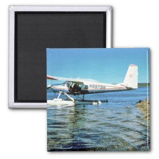 Floatplane N99798 en el lago graphite Imán Cuadrado
