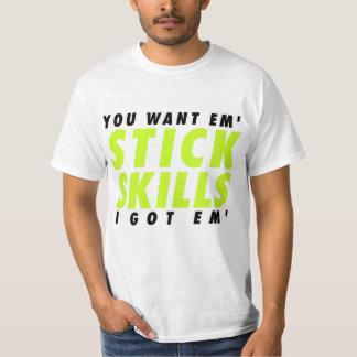 floja es la vida - habilidades del palillo camisetas