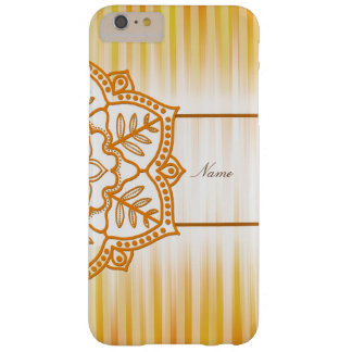 Flor abstracta amarilla funda barely there iPhone 6 plus
