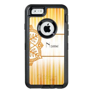 Flor abstracta amarilla funda OtterBox defender para iPhone 6