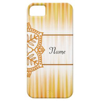 Flor abstracta amarilla funda para iPhone SE/5/5s