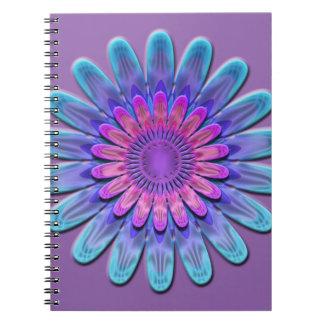 Flor abstracta cuaderno