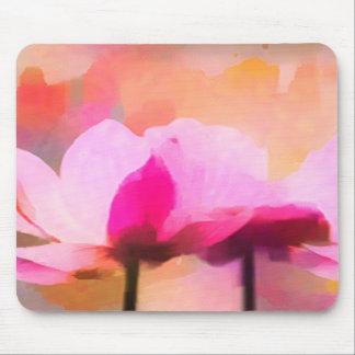 Flor abstracta de la anémona alfombrilla de ratón