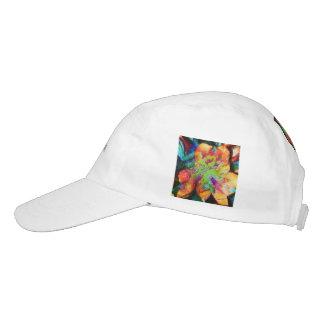 Flor abstracta (u) gorra de alto rendimiento