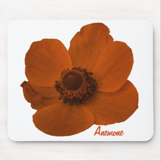 Flor adaptable Mousepad de la anémona de Brown Alfombrilla De Ratón