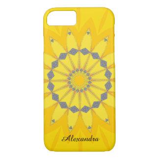 Flor amarilla bonita de la margarita del verano funda iPhone 7