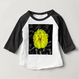 Flor amarilla camiseta de bebé