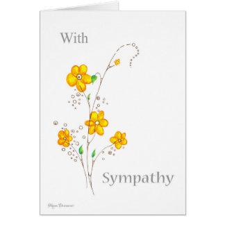 Flor amarilla caprichosa con la tarjeta de