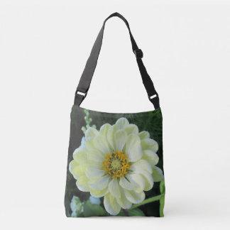Flor amarilla clara de la dalia bolso cruzado