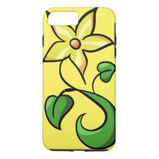 Flor amarilla de la primavera funda iPhone 7 plus