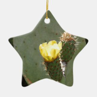 Adornos flor amarilla del cactus for Cactus navideno