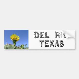 Flor amarilla del cactus de los recuerdos de Del R Pegatina De Parachoque