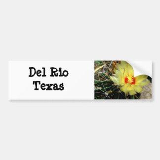 Flor amarilla del cactus del anzuelo pegatina de parachoque
