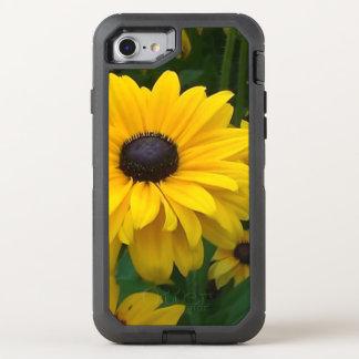 Flor amarilla del Multi-Pétalo Funda OtterBox Defender Para iPhone 7