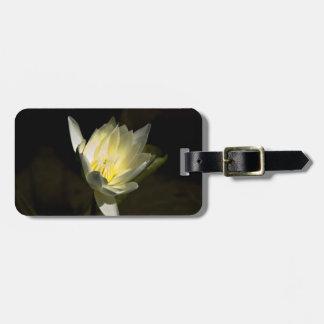 Flor amarilla etiquetas para maletas
