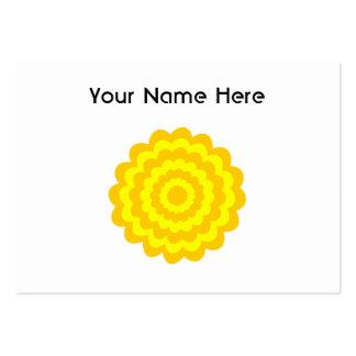 Flor amarilla soleada tarjetas de visita grandes