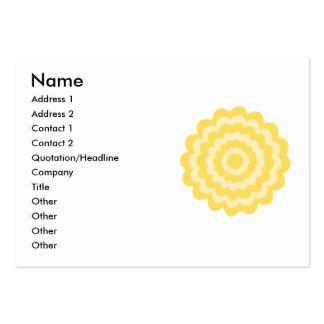 Flor amarilla tarjetas de visita grandes