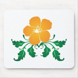 Flor anaranjada: Dibujo del vector: Alfombrilla De Raton