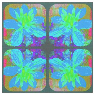 Flor azul abstracta de la dalia telas