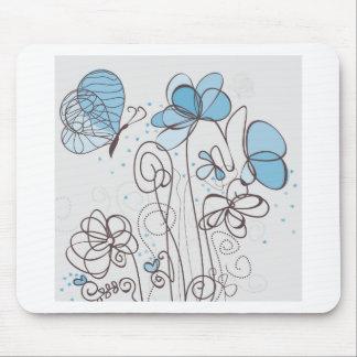 Flor azul alfombrilla de ratón