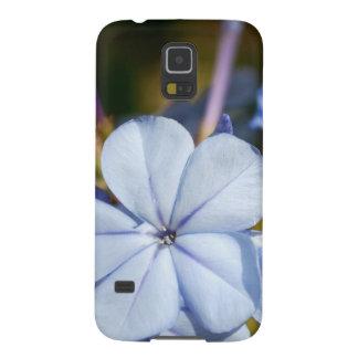 Flor azul carcasa galaxy s5