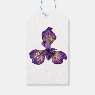Flor azul de Siberica del iris Etiquetas Para Regalos