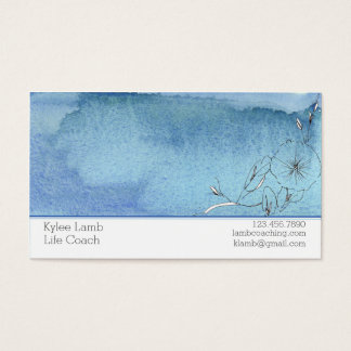 Flor azul del lavado de la acuarela tarjeta de visita