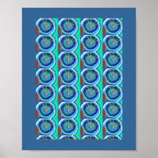 Flor azul divina: Navin Joshi, regalos BARATOS Póster