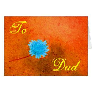 Flor azul feliz I del día de padre Tarjeta De Felicitación