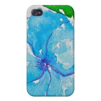 Flor azul iPhone 4 coberturas