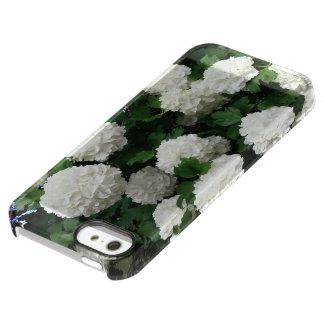 flor blanca de la bola de nieve del caso del funda permafrost® para iPhone SE/5/5s