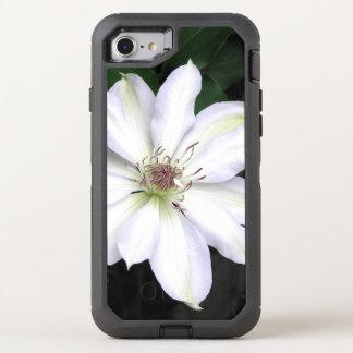 Flor blanca del Clematis Funda OtterBox Defender Para iPhone 7