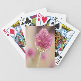 Flor bonita del trébol baraja cartas de poker
