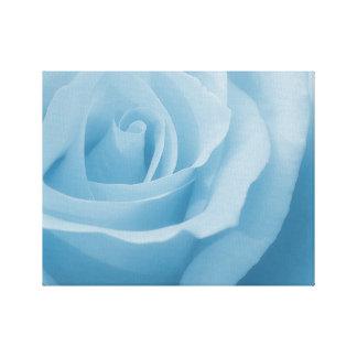 Flor color de rosa azul lienzo