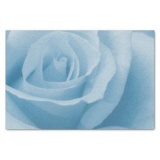 Flor color de rosa azul papel de seda