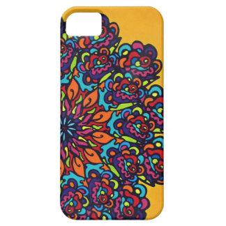 flor colorida de la mandala funda para iPhone SE/5/5s