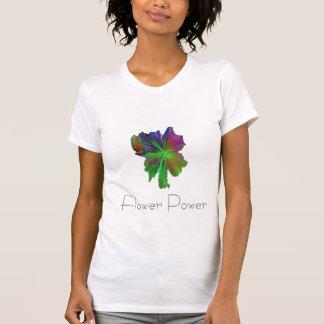 Flor colorida, flower power camisetas