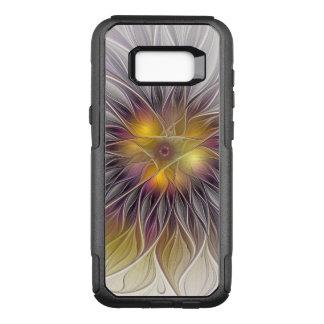 Flor colorida luminosa, fractal moderno abstracto funda otterbox commuter para samsung galaxy s8+